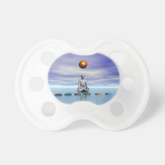 man sun and steps planets pacifier