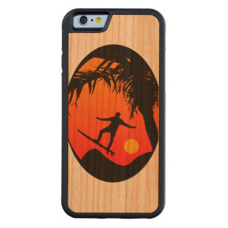 Man Surfing at Sunset Graphic Illustration Cherry iPhone 6 Bumper