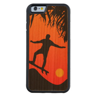 Man Surfing at Sunset Graphic Illustration Cherry iPhone 6 Bumper Case