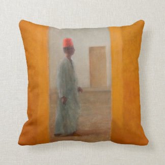 Man Tangier Street 2012 Throw Pillow