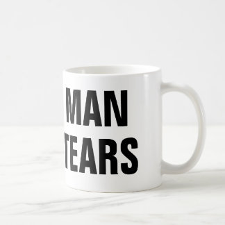 Man Tears Coffee Mug
