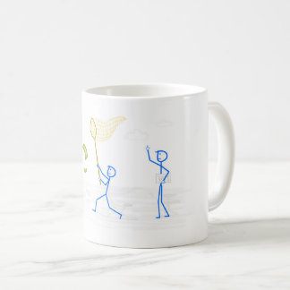 Man trying to catch money - mug