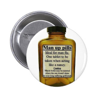 Man Up Pills 2 Inch Round Button