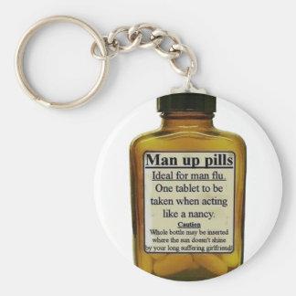 Man Up Pills Keychain