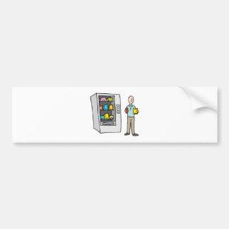 Man Using Vending Machine Bumper Sticker