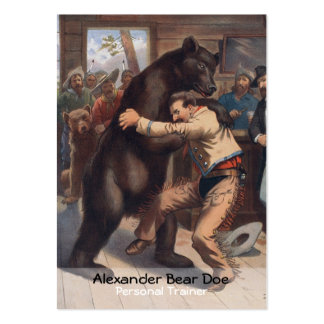Man Versus Bear - Personal Trainer Business Card
