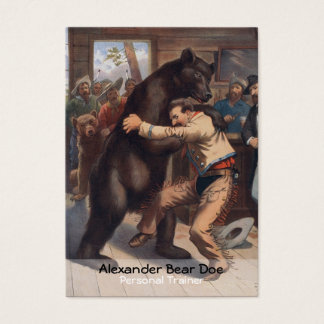 Man Versus Bear - Personal Trainer Business Card