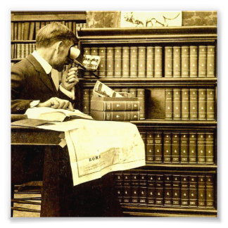 Man Viewing Stereoview Cards Vintage Photo Art