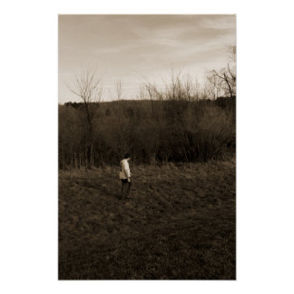 Man walking alone poster