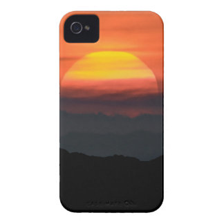Man Walking at Mountains Landscape Illustration iPhone 4 Covers