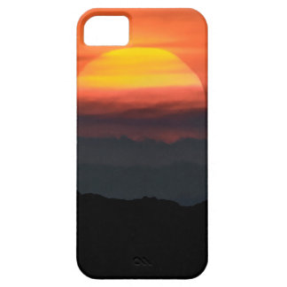 Man Walking at Mountains Landscape Illustration iPhone 5 Covers