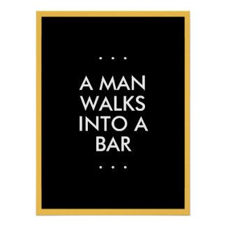 Man Walks Into a Bar Poster