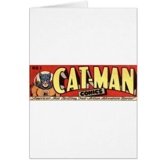 Man who Fancies Cats Banner Card