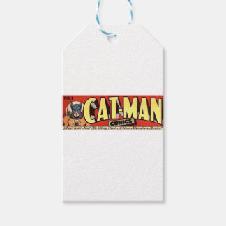 Man who Fancies Cats Banner Gift Tags
