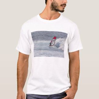 Man windsurfing in front of wave T-Shirt