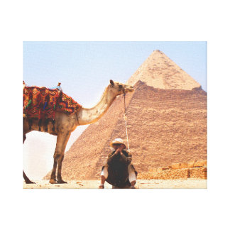 Man with a camel canvas print