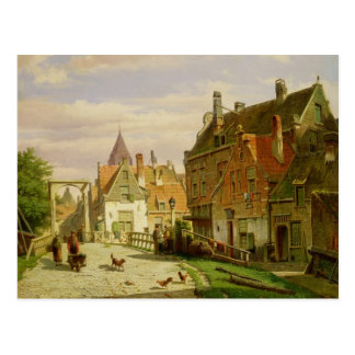 Man with a Wheelbarrow Postcard