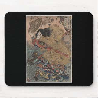 Man with Fur Coat & Straw Hat Mouse Pads