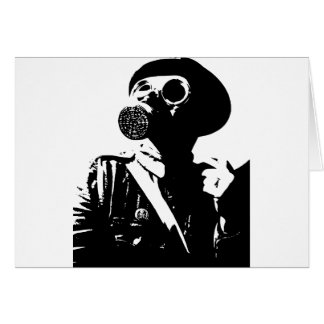 Man with Gas Mask Card