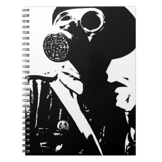 Man with Gas Mask Note Books