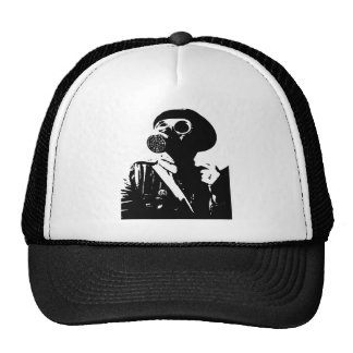 Man with Gas Mask Trucker Hat