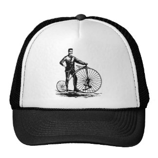 Man with Penny Farthing - Black Trucker Hat