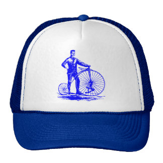Man with Penny Farthing - Blue Trucker Hat