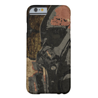 Man with protective mask on dark metal plate barely there iPhone 6 case