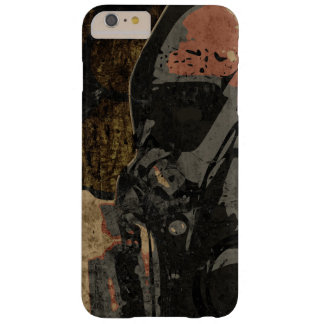 Man with protective mask on dark metal plate barely there iPhone 6 plus case