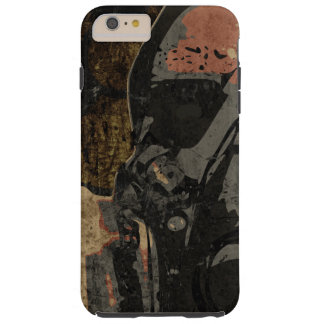 Man with protective mask on dark metal plate tough iPhone 6 plus case