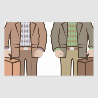 Man with suitcase vector