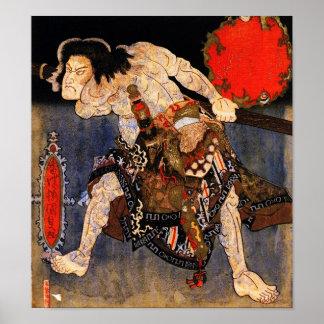 Man with Tattoos, Kunisada Japanese Fine Art Poster