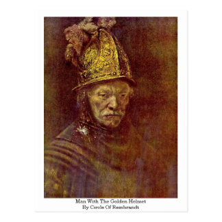 Man With The Golden Helmet By Circle Of Rembrandt Postcard
