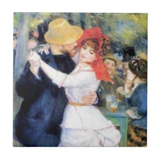 Man woman dancing renoir painting tiles