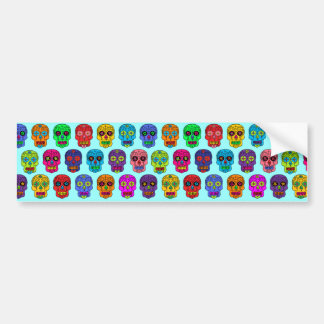 Man & Woman Sugar Skulls Bumper Sticker