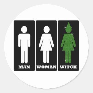 Man, Woman, Witch, Dorothy Classic Round Sticker