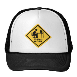 Man @ Work Trucker Hat