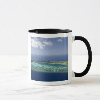 Mana Island and coral reef, Mamanuca Islands Mug