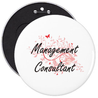 Management Consultant Artistic Job Design with But 6 Inch Round Button