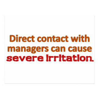 Management Contact Postcard