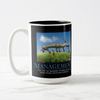 Management Demotivational  Mug