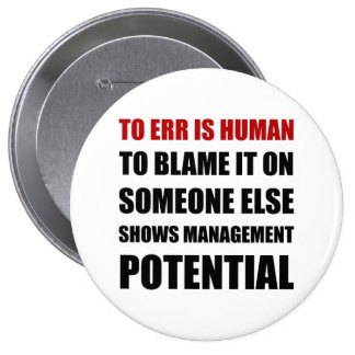 Management Potential 4 Inch Round Button