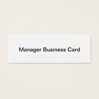 Manager Business Card