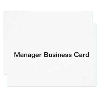 manager business card invitation flat card