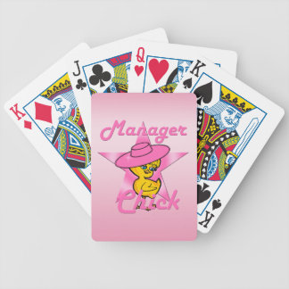 Manager Chick #8 Bicycle Playing Cards