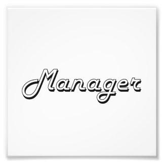 Manager Classic Job Design Photographic Print
