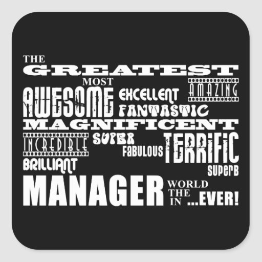 Managers & Bosses : Greatest Manager Square Sticker