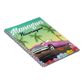 Managua - Nicaragua travel poster Notebooks
