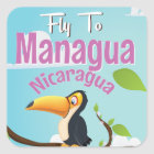 Managua, Nicaragua vintage travel poster Square Sticker