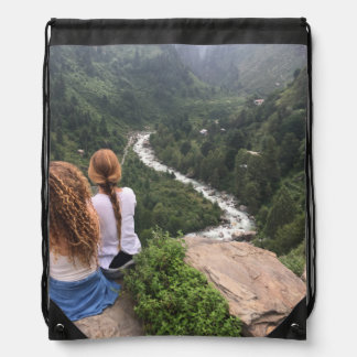 Manali view drawstring bag